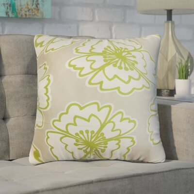 Arrant Floral Cotton Throw Pillow Color: Gray