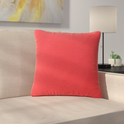 Maynor Square Indoor/Outdoor Throw Pillow Color: Red
