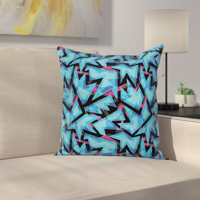 Modern Graphic Print Square Pillow Cover Size: 16 x 16