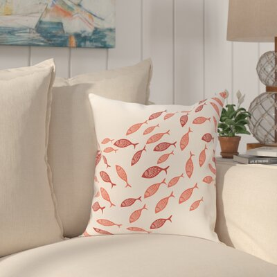 Golden Lakes Outdoor Throw Pillow Size: 16 H x 16 W, Color: Coral