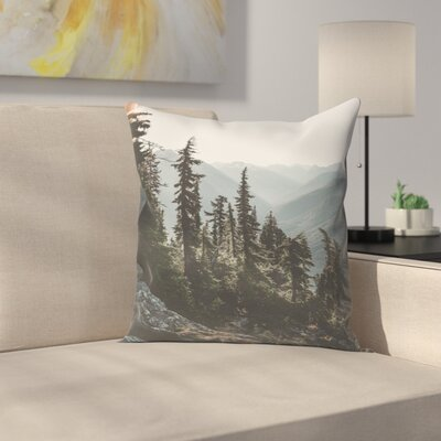 Luke Gram North Cascades National Forest USA Throw Pillow Size: 14 x 14
