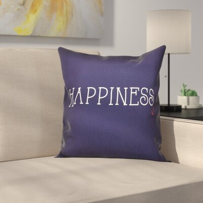 Mae Coastal Happiness Throw Pillow Size: 18 H x 18 W, Color: Navy Blue