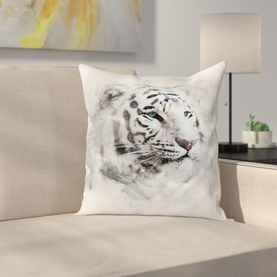 Animal Tiger Portrait Square Pillow Cover Size: 20 x 20