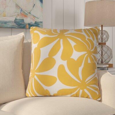 Egerton Indoor/Outdoor Throw Pillow Fabric: Yellow