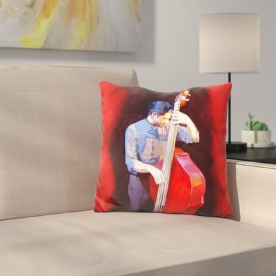 Bass Player Throw Pillow