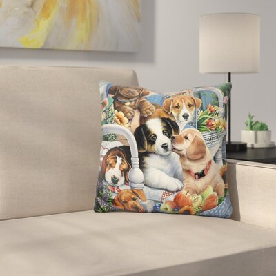 Country Pups Throw Pillow