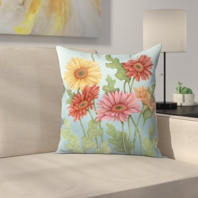 Gerbera Throw Pillow Size: 18 x 18