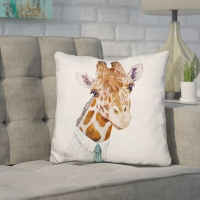 Hertz Giraffe Throw Pillow