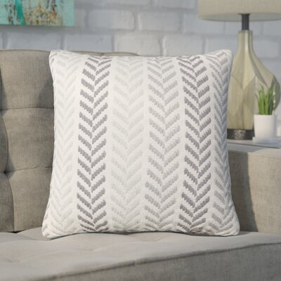 Chevron 100% Cotton Throw Pillow Color: Grey