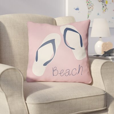 Collie B?ach Throw Pillow Size: 18 H x 18 W x 4 D, Color: Pink