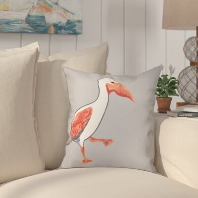 Cavendish Pelican March Animal Print Throw Pillow Size: 16 H x 16 W, Color: Gray