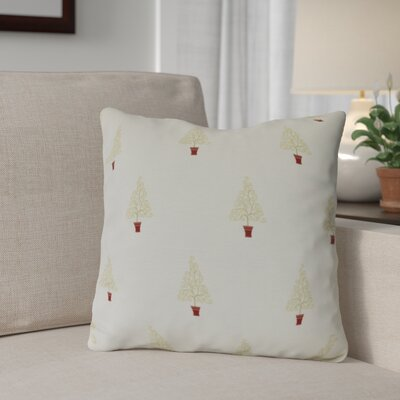 Filigree Forest Outdoor Throw Pillow Size: 18 H x 18 W, Color: Off White