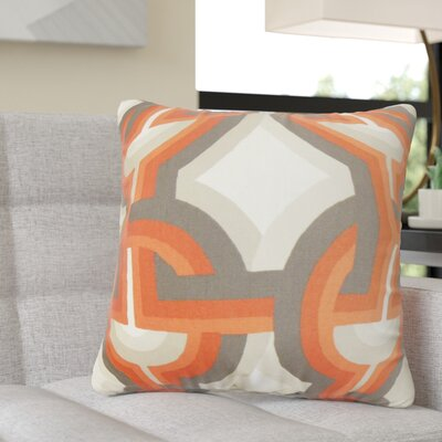 Randle Geometric Cotton Throw Pillow Color: Orange