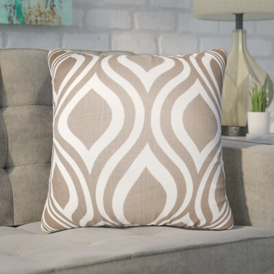 Wolff Geometric Cotton Throw Pillow Color: Brown