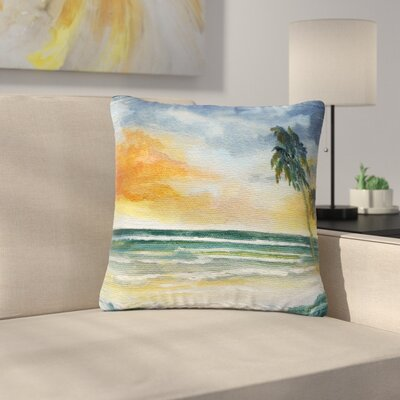 Rosie Brown End of Day Beach Outdoor Throw Pillow Size: 16 H x 16 W x 5 D