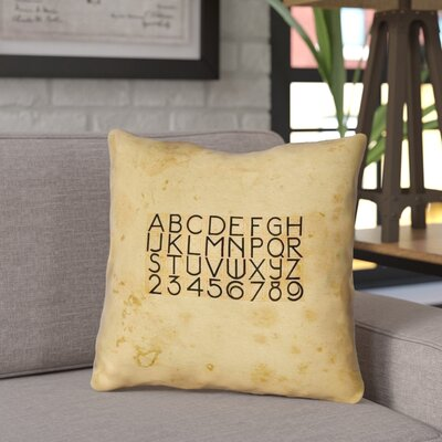 Daniyar Vintage Typography Indoor/Outdoor Throw Pillow Size: 20 x 20