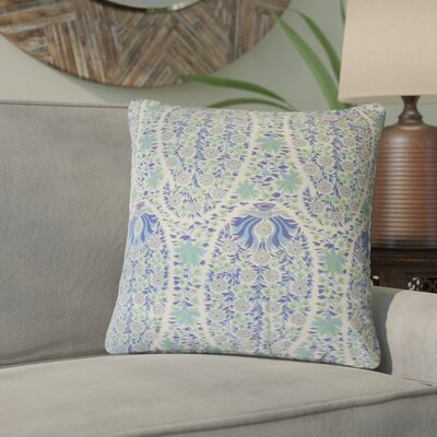 Lennie Floral Cotton Throw Pillow Color: Blueberry
