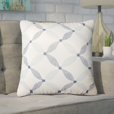 Peregrin Geometric Cotton Throw Pillow Color: Marine