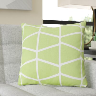 Ochoa Cotton Throw Pillow Size: 22 H x 22 W x 4 D, Color: Green / Ivory
