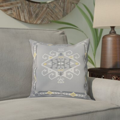 Meetinghouse Jodhpur Border 3 Geometric Print Throw Pillow Size: 18 H x 18 W, Color: Gray