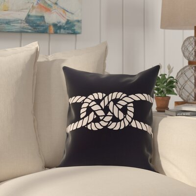 Hancock Carrick Bend Geometric Throw Pillow Size: 16 H x 16 W, Color: Navy Blue