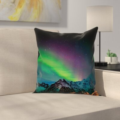 Sky over Rocky Hill Wild Cushion Pillow Cover Size: 18 x 18