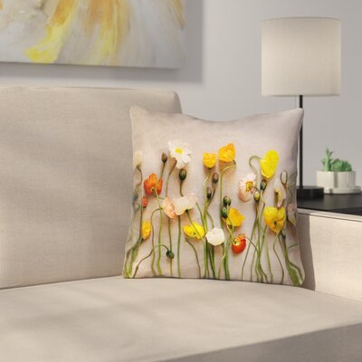 Tuyen Dried Flowers Square Outdoor Throw Pillow Size: 16 x 16