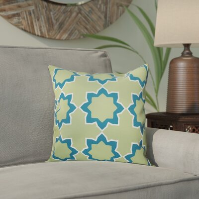 Meetinghouse Bohemian 2 Geometric Print Throw Pillow Size: 18 H x 18 W, Color: Teal