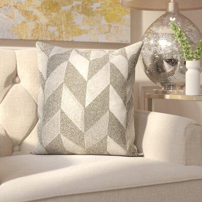 Gilbert Natural Hide Throw Pillow Color: Gray
