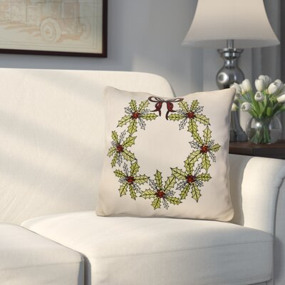 Decorative Holiday Throw Pillow Size: 18 H x 18 W, Color: Green