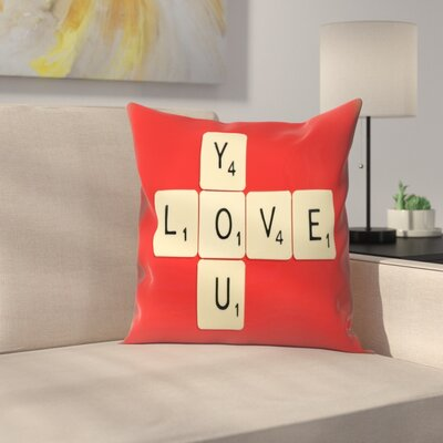 Florent Bodart Love You Bodart Throw Pillow Size: 20 x 20