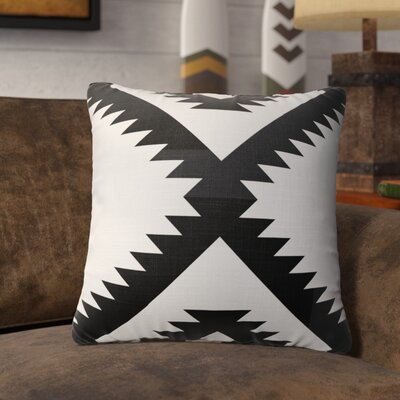 Levering Throw Pillow Size: 16 x 16, Color: Black/White