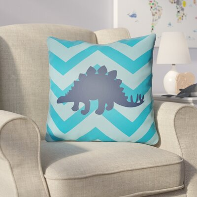 Colinda Dinosaur Throw Pillow Size: 20 H x 20 W x 4 D, Color: Blue