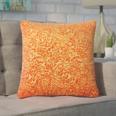 Winans Damask Throw Pillow Color: Tangerine