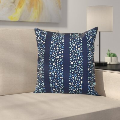 Dots Circles Striped Cushion Pillow Cover Size: 16 x 16