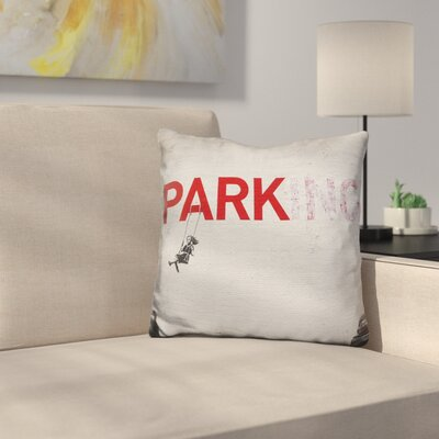 Parking Girl Swing Throw Pillow