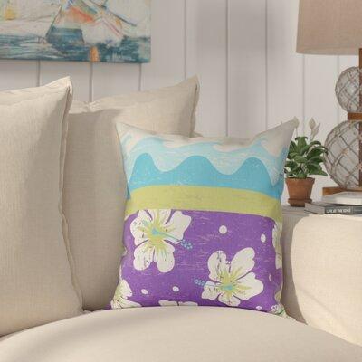Golden Beach Floral Outdoor Throw Pillow Size: 18 H x 18 W, Color: Light Green