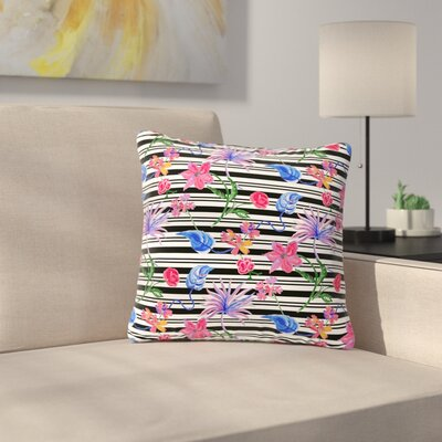 DLKG Design Flower Party Outdoor Throw Pillow Size: 18 H x 18 W x 5 D