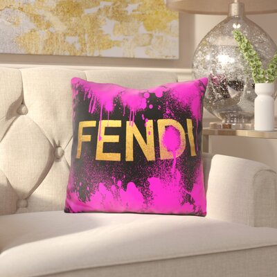 Brigida Fendi Throw Pillow