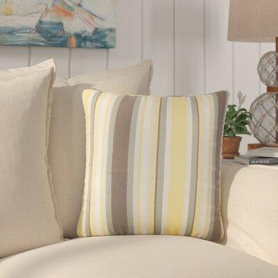 Yeji Striped Cotton Throw Pillow Color: Plantain