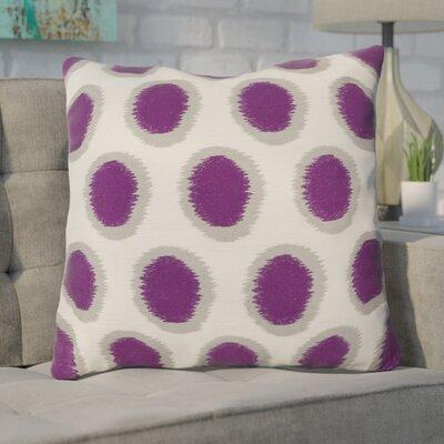 Mcelhaney Linen Throw Pillow Color: Purple