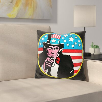 Uncle Sam Circle Throw Pillow