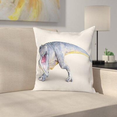 Dinosaur Monstrous Creature Square Cushion Pillow Cover Size: 20 x 20