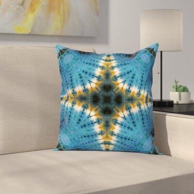 Tie Dye Bohemian Elegant Square Pillow Cover Size: 16 x 16