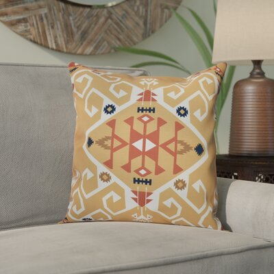 Meetinghouse Jodhpur Medallion Geometric Outdoor Throw Pillow Size: 20 H x 20 W, Color: Gold