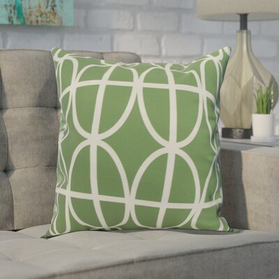 Crosswhite Ovals and Stripes Geometric Print Indoor/Outdoor Throw Pillow Color: Green, Size: 16 x 16