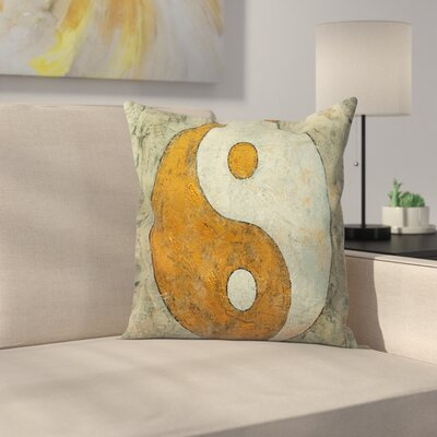Michael Creese Yin and Yang Throw Pillow Size: 14 x 14