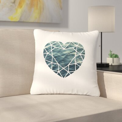 Ocean Love Photography Outdoor Throw Pillow Size: 16 H x 16 W x 5 D