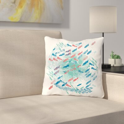 Underwater Life by Frederic Levy-Hadida Throw Pillow Size: 16 H x 16 W x 3 D, Color: White