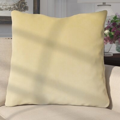Aveneil Solid Floor Pillow Color: Sand